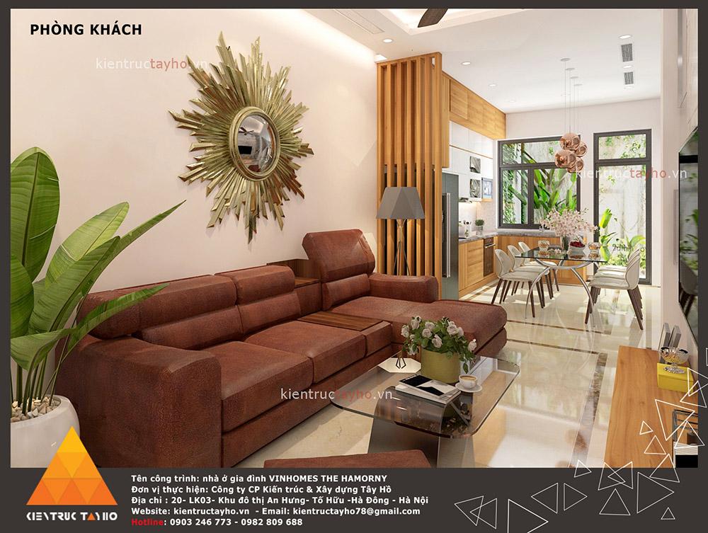 Thiết kế biệt thự Vinhomes The Harmony phòng khách 1