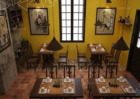 thiet-ke-va-thi-cong-noi-that-nha-hang-old-hanoi-restaurant-18-ton-that-thiep