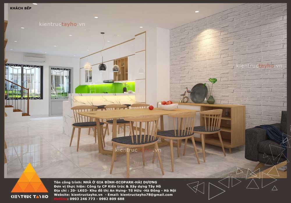 thiết-kế-nội-thất-nhà-liền-kề-hiện-đại-chị-Lan-ecopark-hải-dương-bàn-ăn