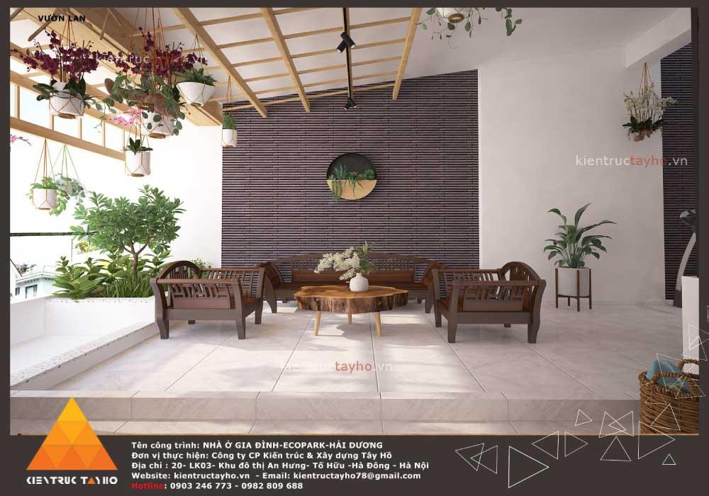 thiết-kế-nội-thất-nhà-liền-kề-hiện-đại-chị-Lan-ecopark-hải-dương-bàn-ghế-vườn-lan