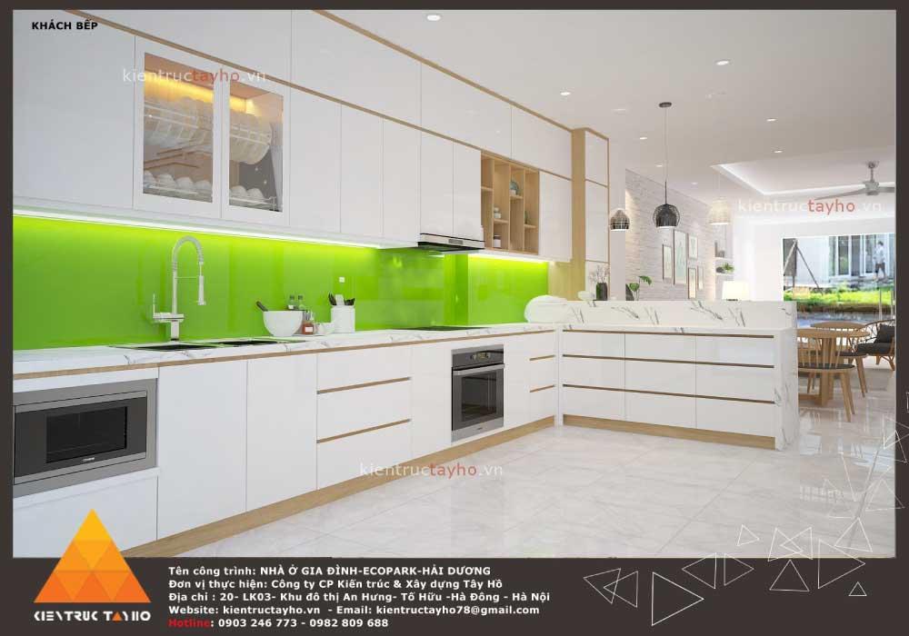 thiết-kế-nội-thất-nhà-liền-kề-hiện-đại-chị-Lan-ecopark-hải-dương-phòng-bếp