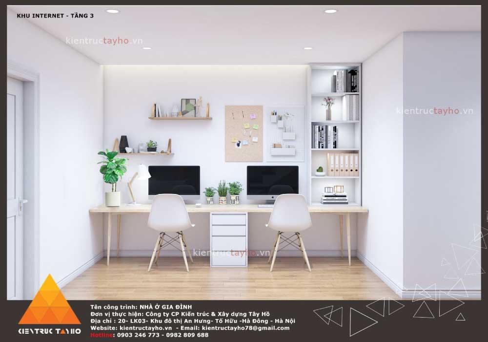 thiết-kế-nội-thất-nhà-liền-kề-hiện-đại-chị-Lan-ecopark-hải-dương-phòng-internet