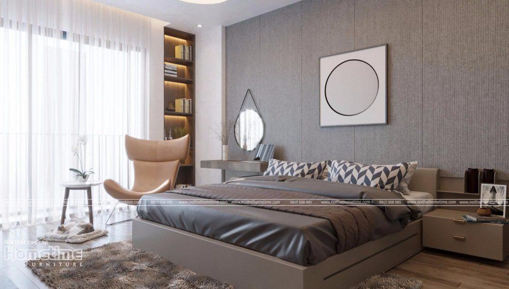 Thiết kế nội thất phòng ngủ đầy đủ tiện nghi