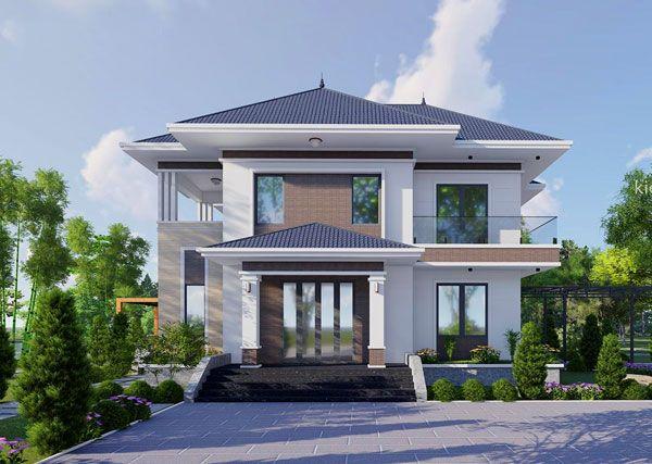 Thiết kế biệt thự nhà vườn thuần Việt - anh Đông, Thái Bình